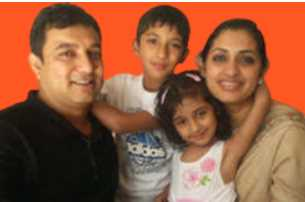 Bipasha Hayat with her Husband and Children