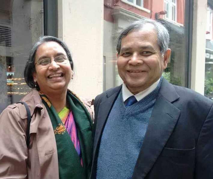 Dipu Moni with her husband