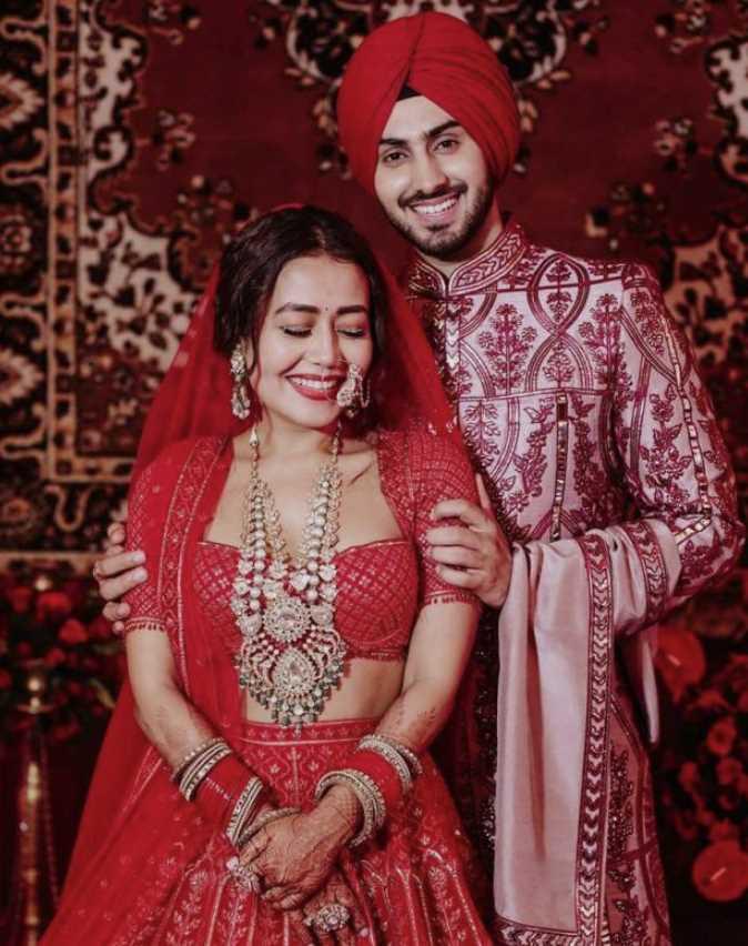 Neha Kakkar with her Husband