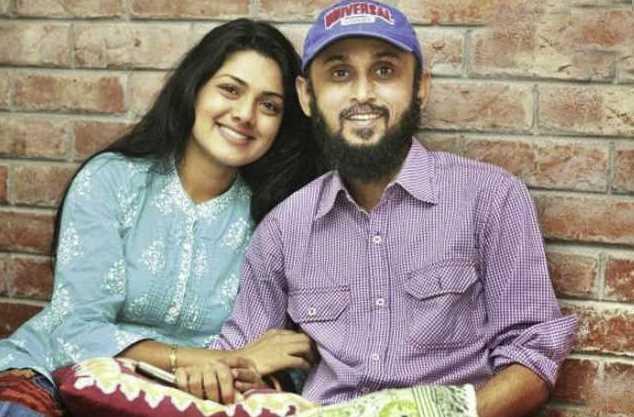 Nusrat Imrose Tisha with her  husband Mostofa Sarwar Farooki