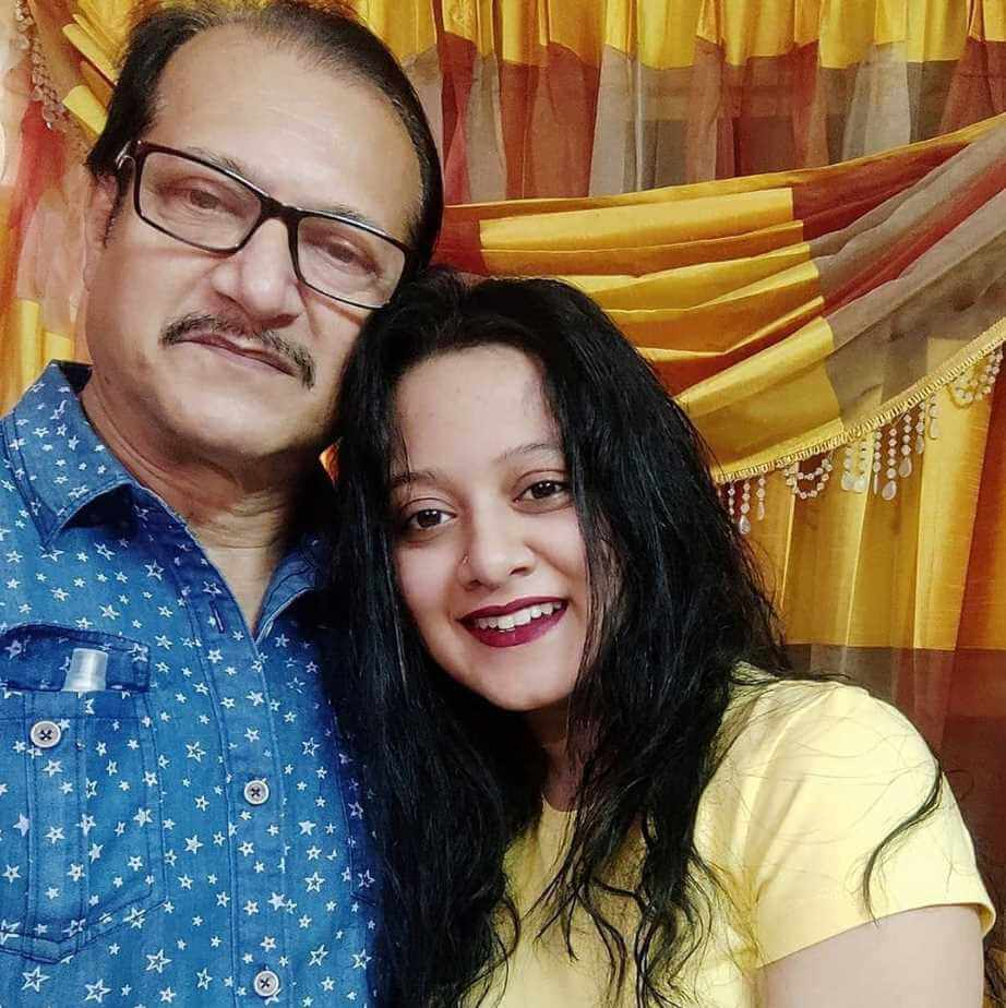 Actress Dighi with father