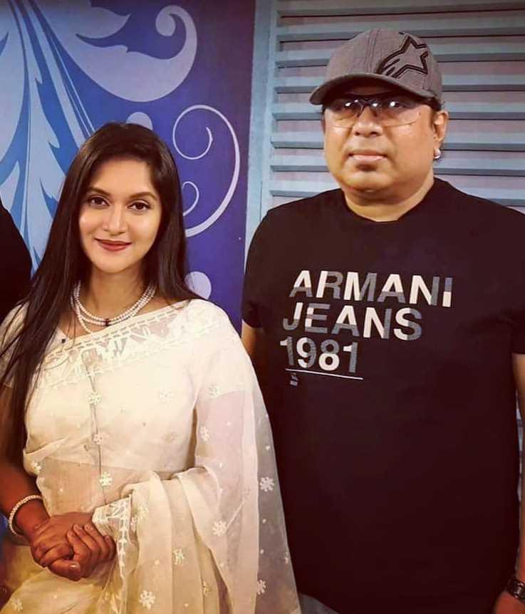 Rafiath Rashid Mithila with Ayub Bacchu photo
