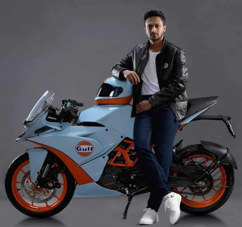 Shakib Al Hasan with Bike Photo
