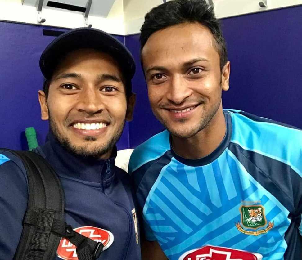 Shakib Al Hasan with Mushfiqur Rahim