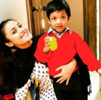Tasnuva Tisha with her Son