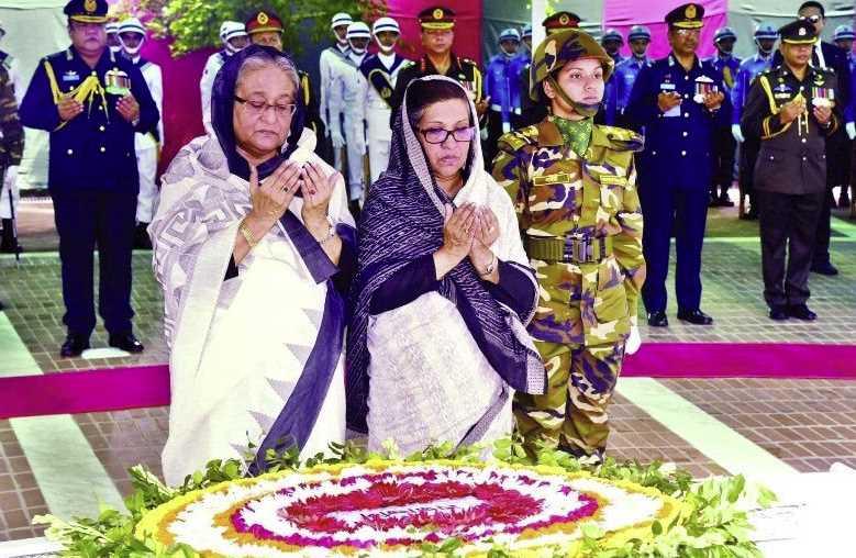 Sheikh Hasina and her sister Sheikh Rehana photo