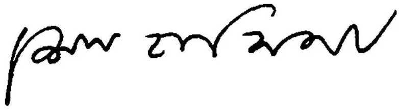 Sheikh Hasina signature
