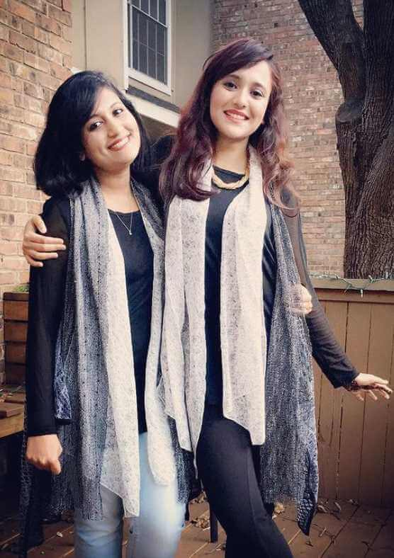 Sabila Nur with her Sister