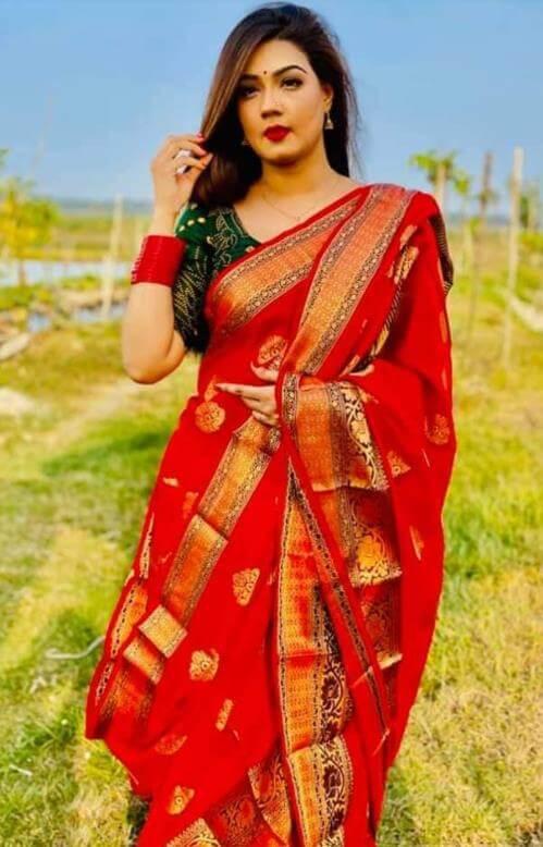 Mahiya Mahi HD Saree Pic