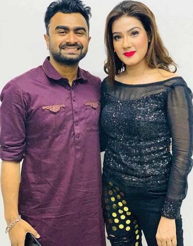 Mahiya Mahi with Imran Mahmudul
