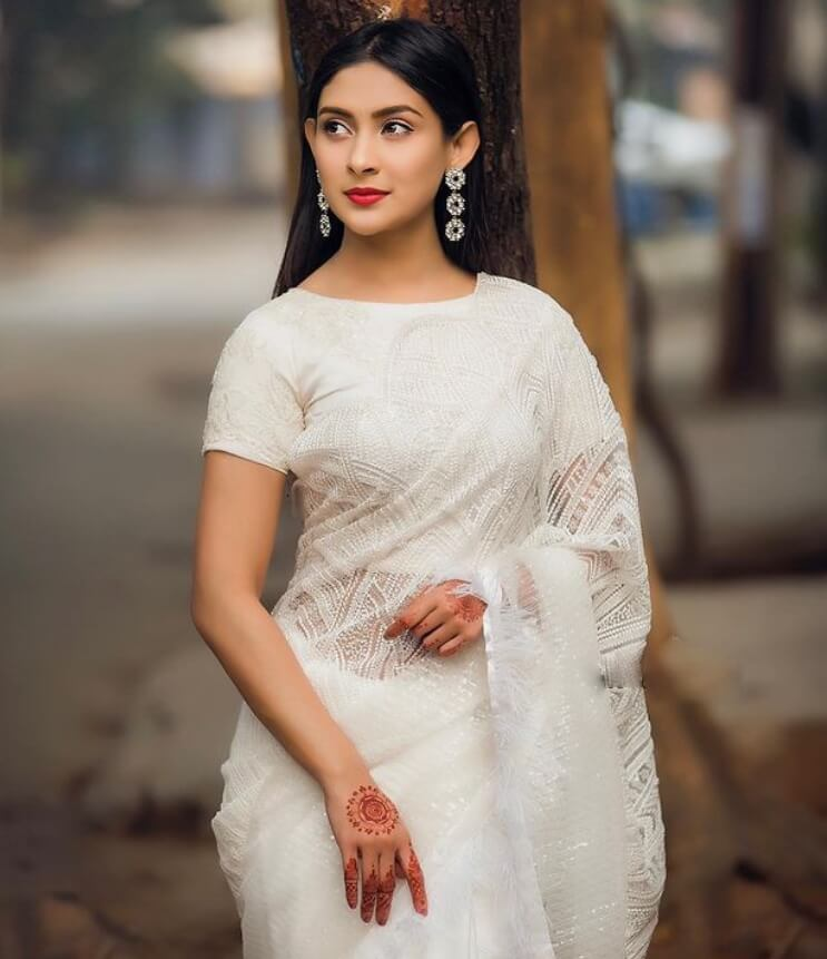 Mehazabien Chowdhury New Saree Photo