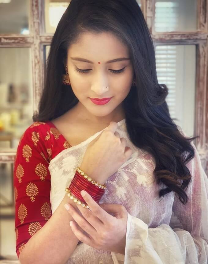 Mehazabien Chowdhury Saree Picture