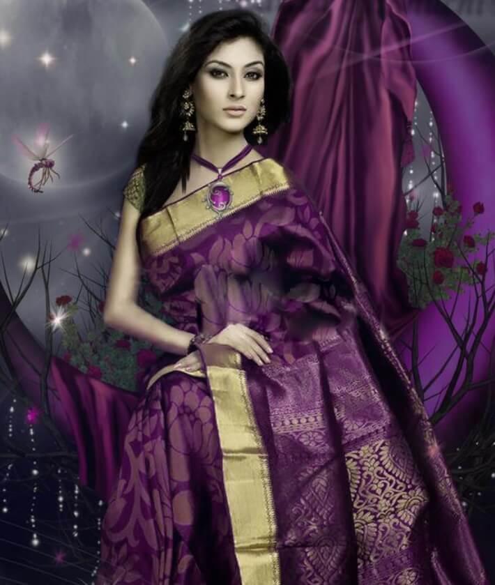 Mehazabien Chowdhury Saree Style pic