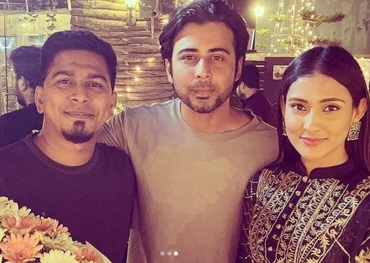 Mehazabien Chowdhury with Afran Nisho & Kajal Arefin Ome