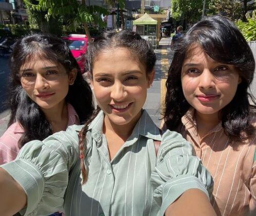Mehazabien Chowdhury with her Sisters