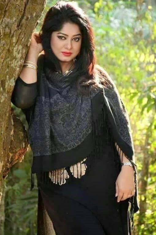 Moushumi Black Salwar Kameez Photo