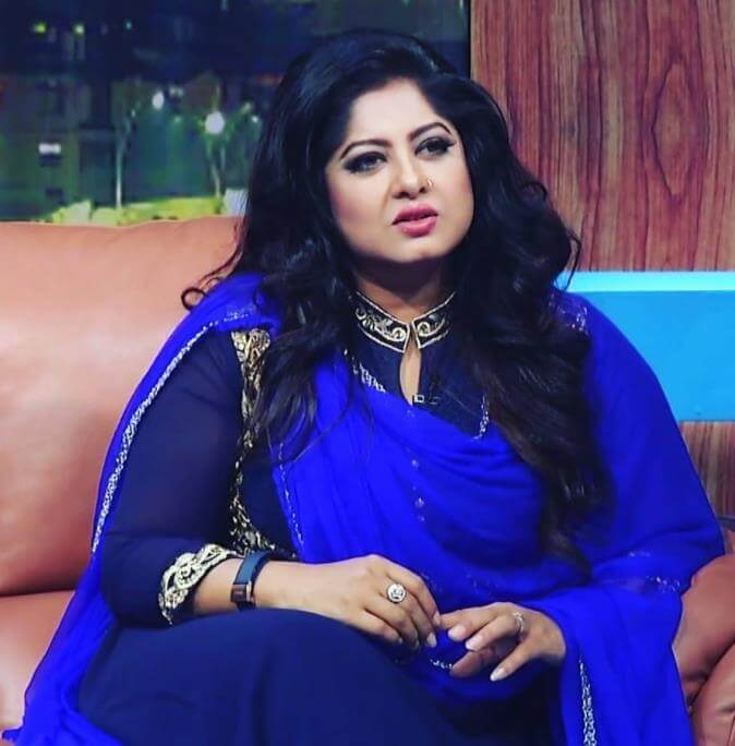 Moushumi Blue Dress Picture