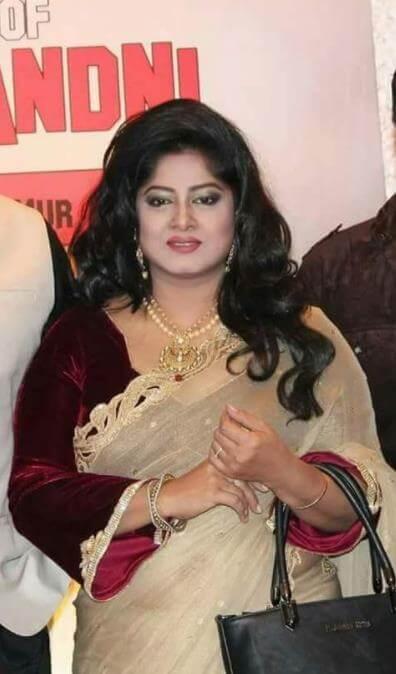 Moushumi Brown Saree Image