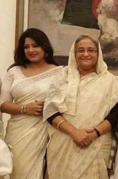 Moushumi with Bangladesh PM Sheikh Hasina