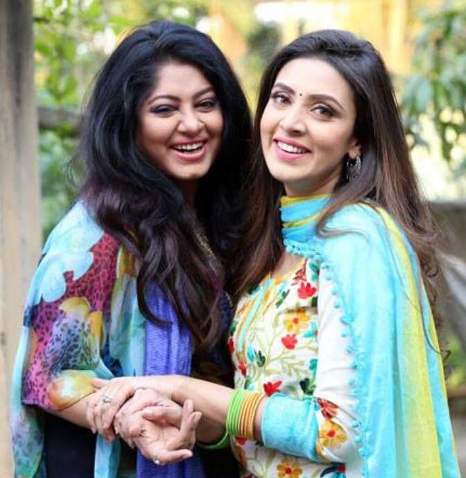 Moushumi with Bidya Sinha Saha Mim photo
