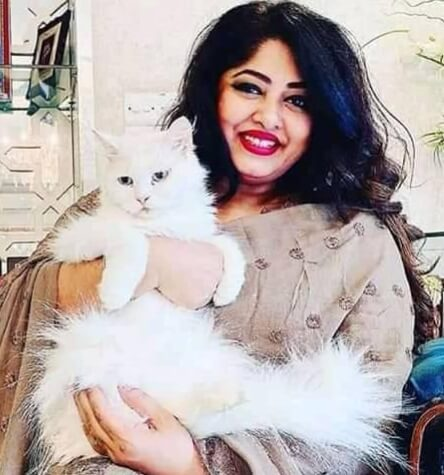 Moushumi with her Cat