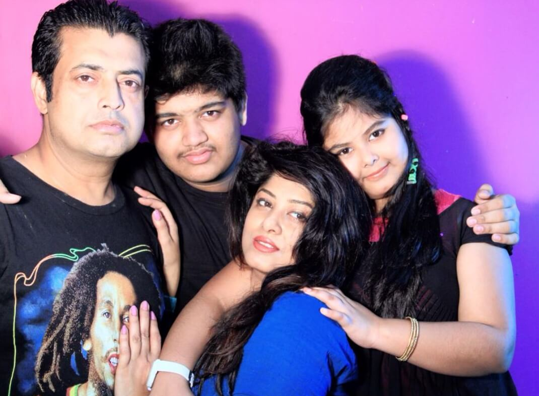 Moushumi with her Family