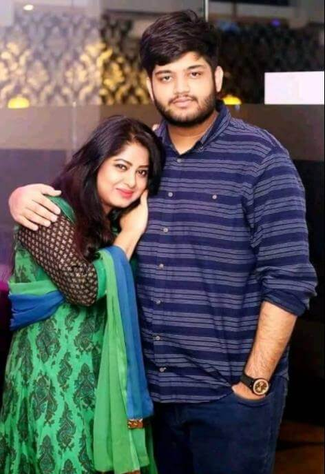 Moushumi with her Son