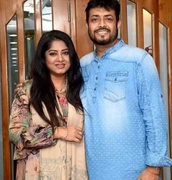 Moushumi with her husband