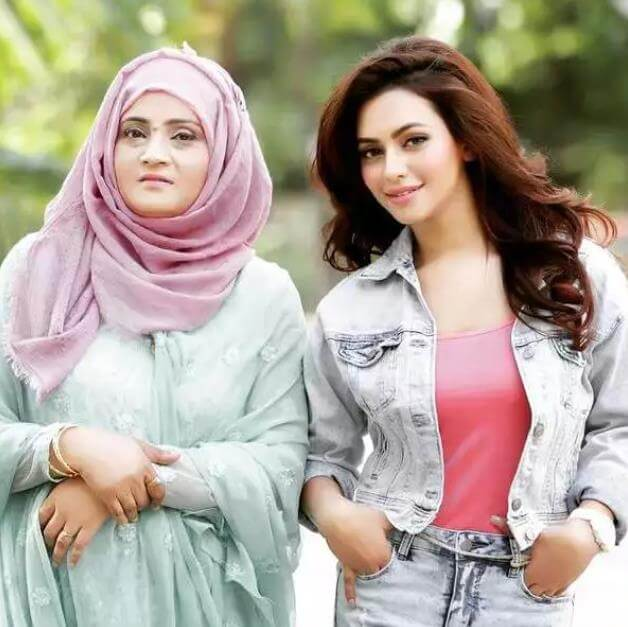 Nusrat Faria with her Mother