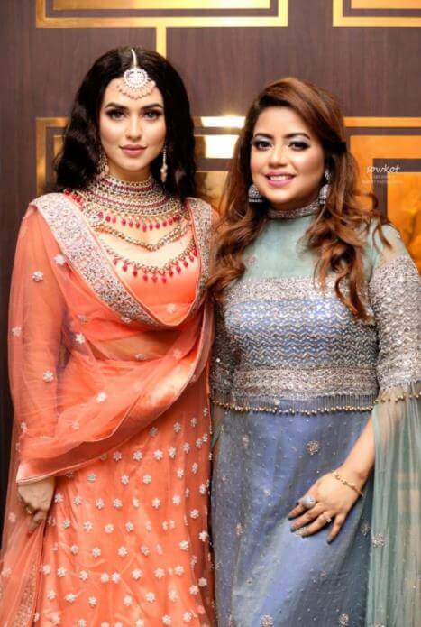 Nusrat Faria with her Sister
