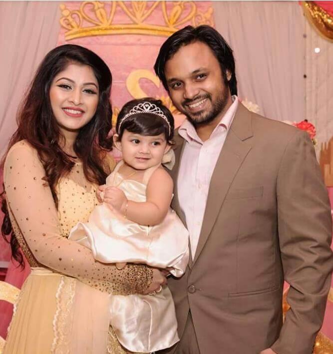 Sarika Sabrin with Family Photo