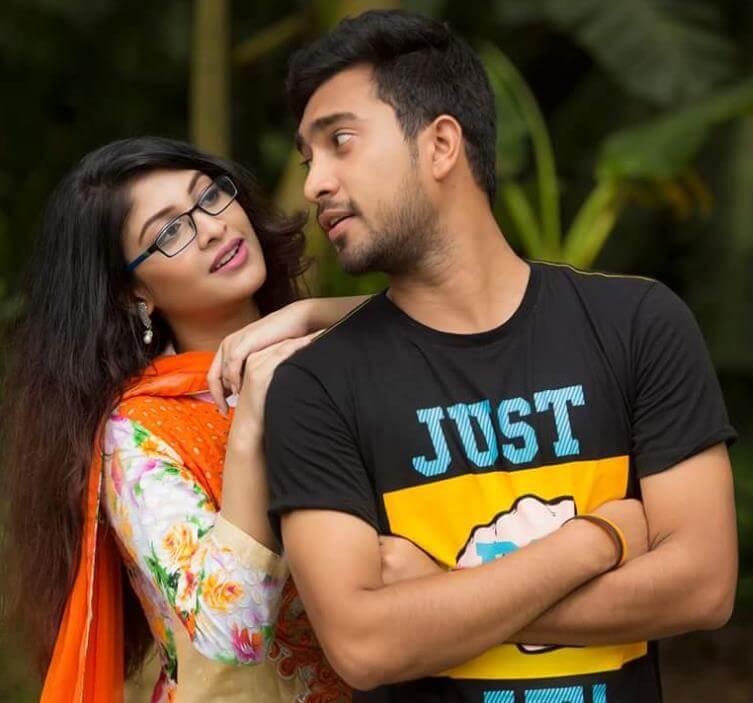 Sarika Sabrin with Farhan Ahmed Jovan