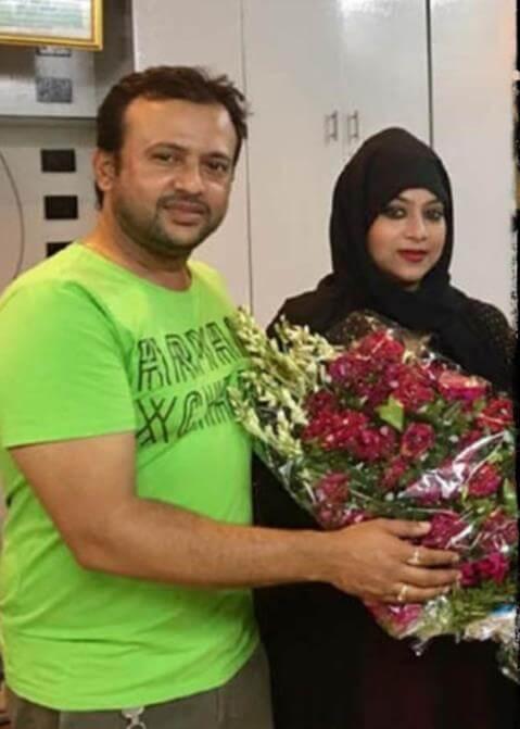 Shabnur with Riaz