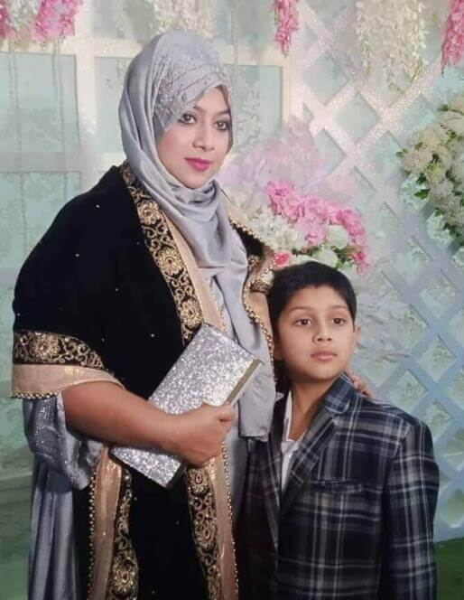 Shabnur with her son