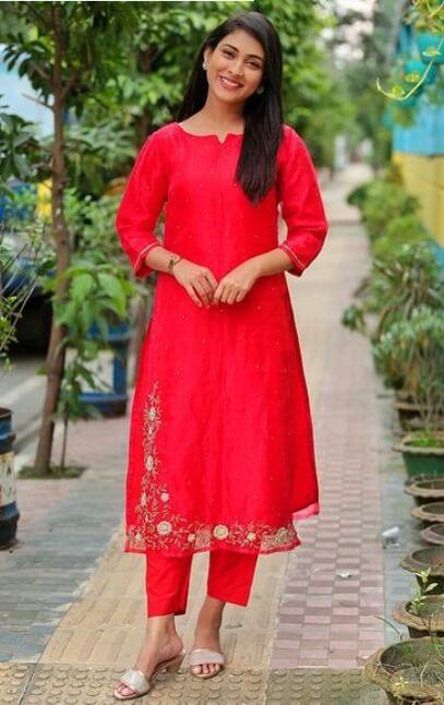 Mehazabien Chowdhury Salwar Red Kameez Style Photo