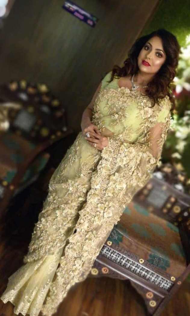 Nipun Akter Saree Style Picture