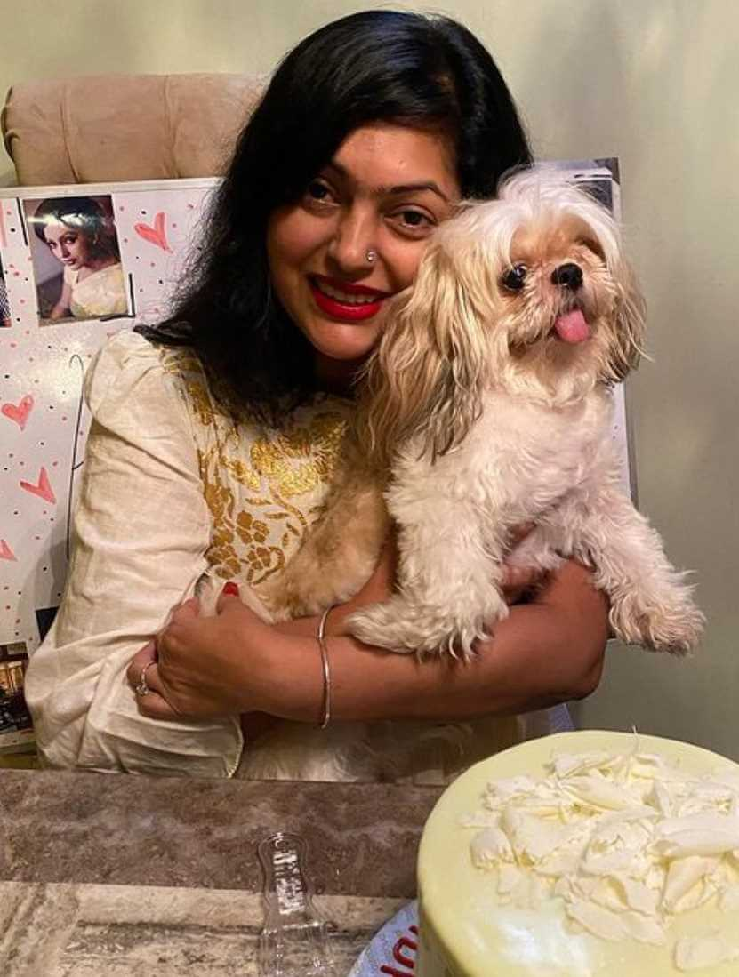 Nipun Akter with her Dog Image