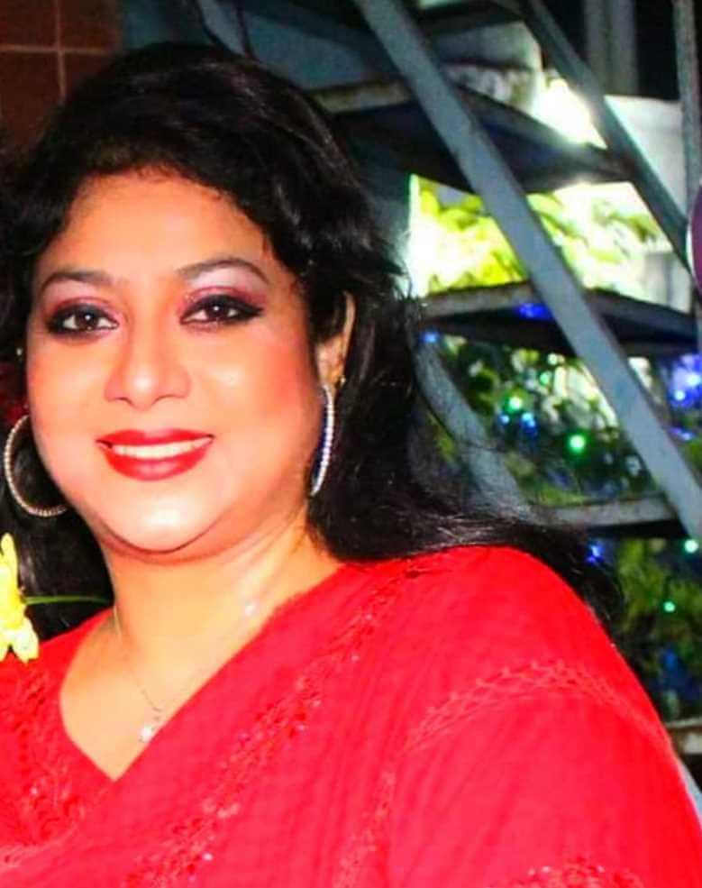 Shabnur Red Color Saree pic