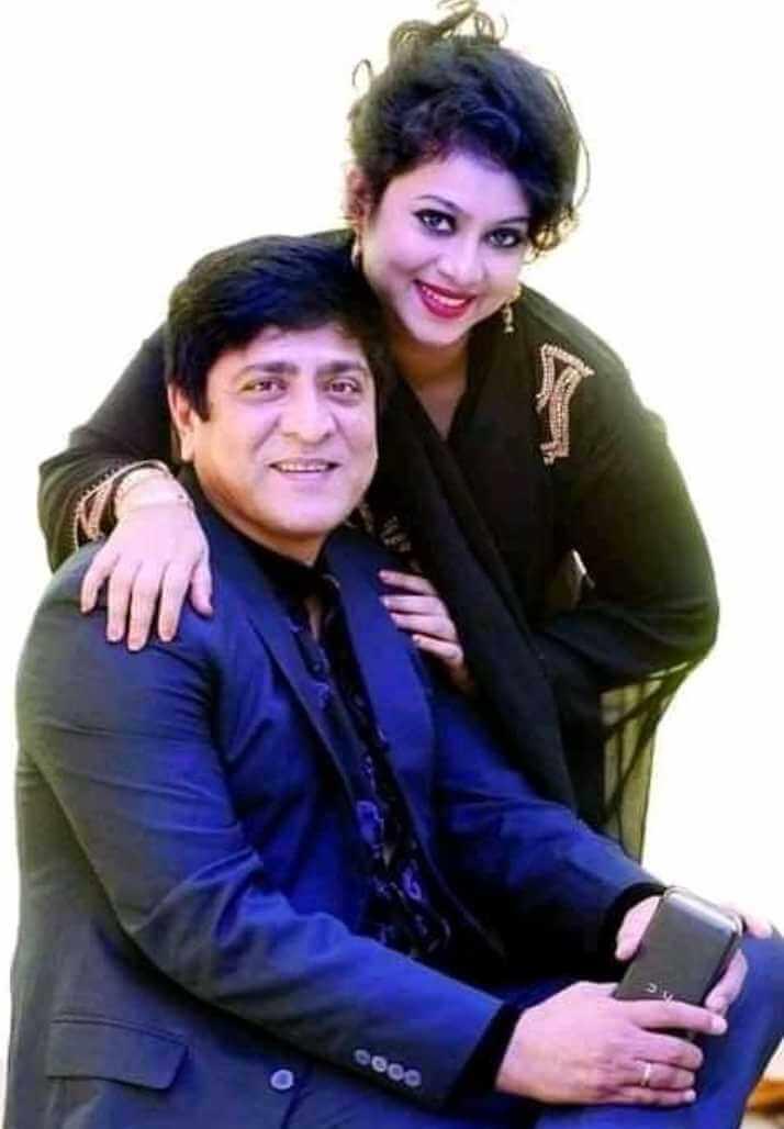 Shabnur with Mmith Hasan Photo