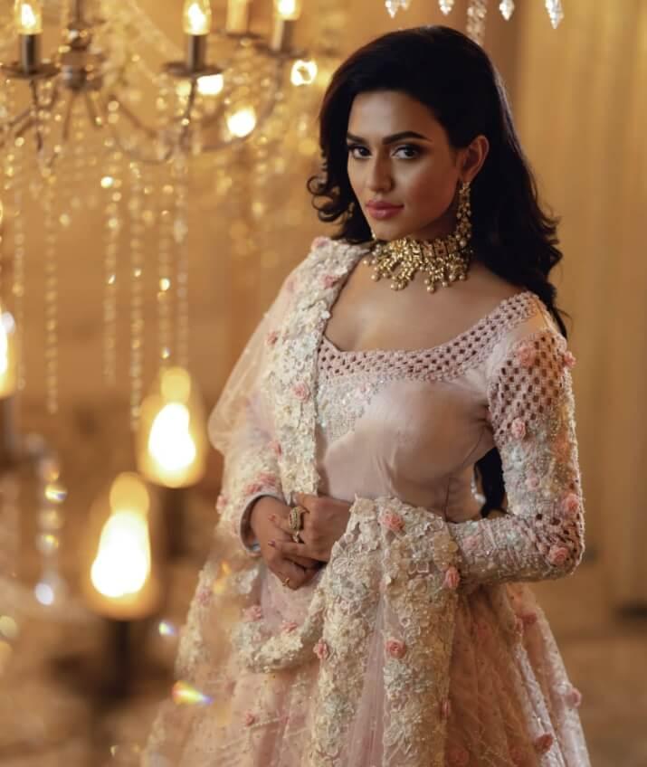 Actress Nusraat Faria Mazhar and a beautiful saree