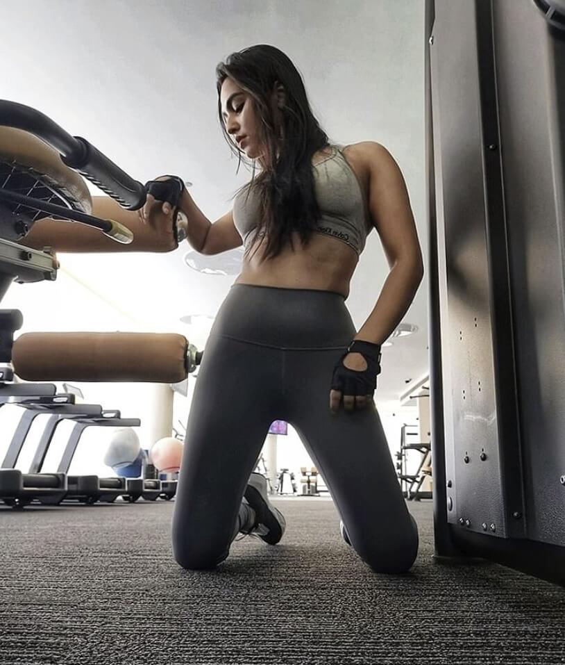 Bangladeshi actress Nusrat Faria Mazhar at gym photo