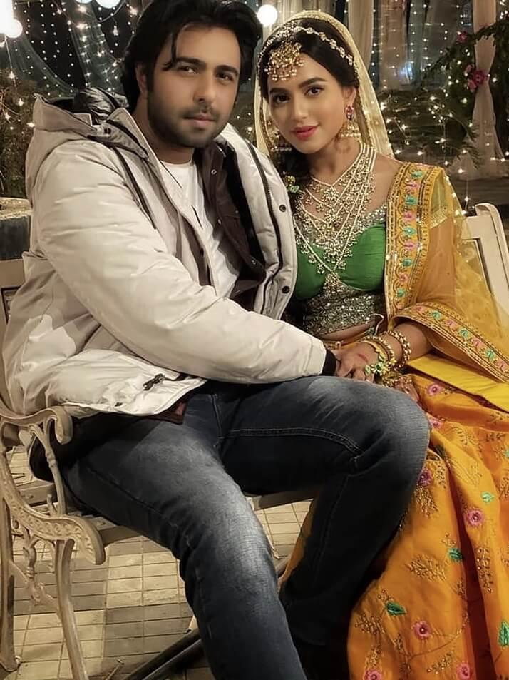 Bangladeshi actress Nusrat Faria Mazhar with co-actor Apurba