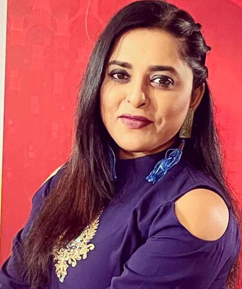 Jyotika Jyoti Blue Dress Pic