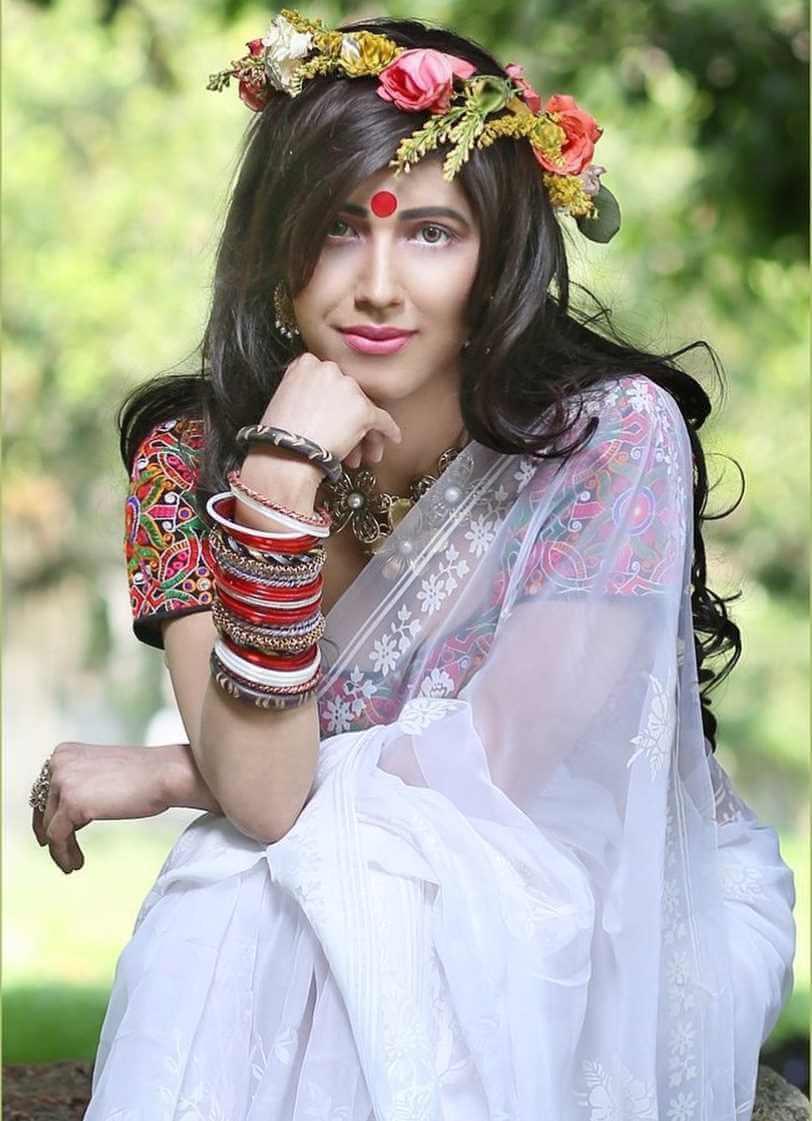 Naila Nayem Beautiful Saree Photo