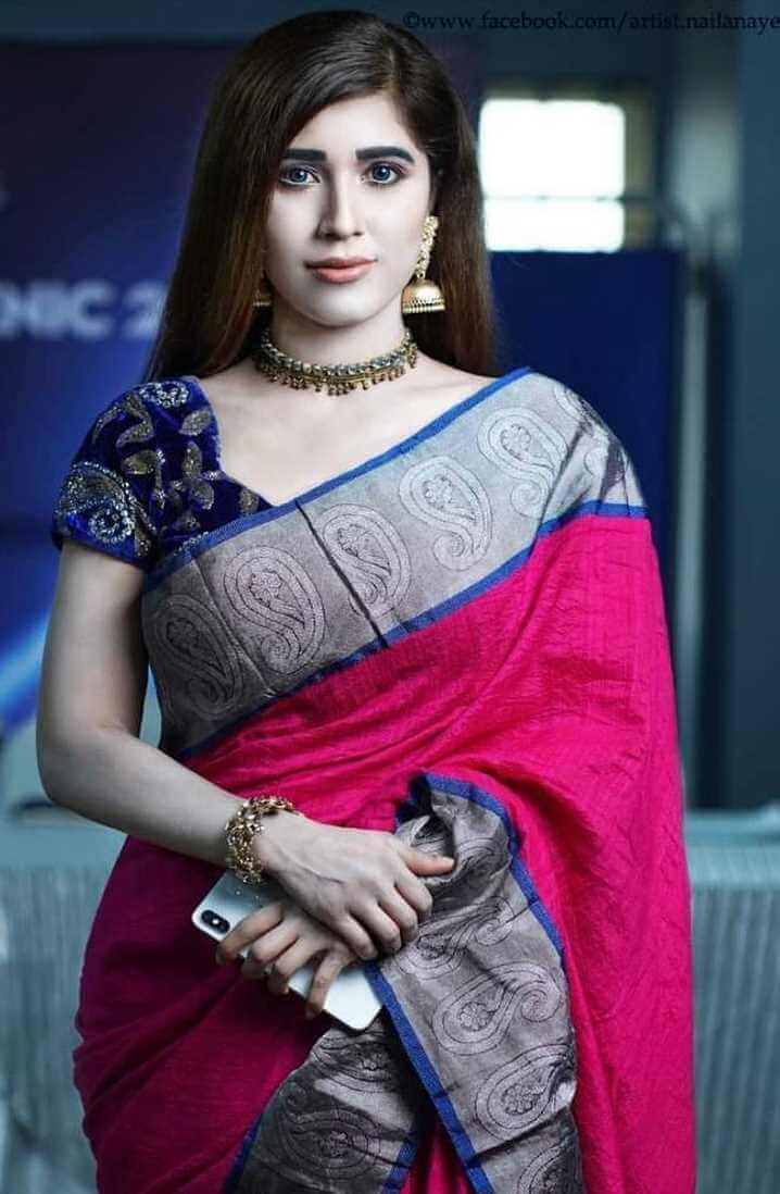 Naila Nayem New  Saree Pic