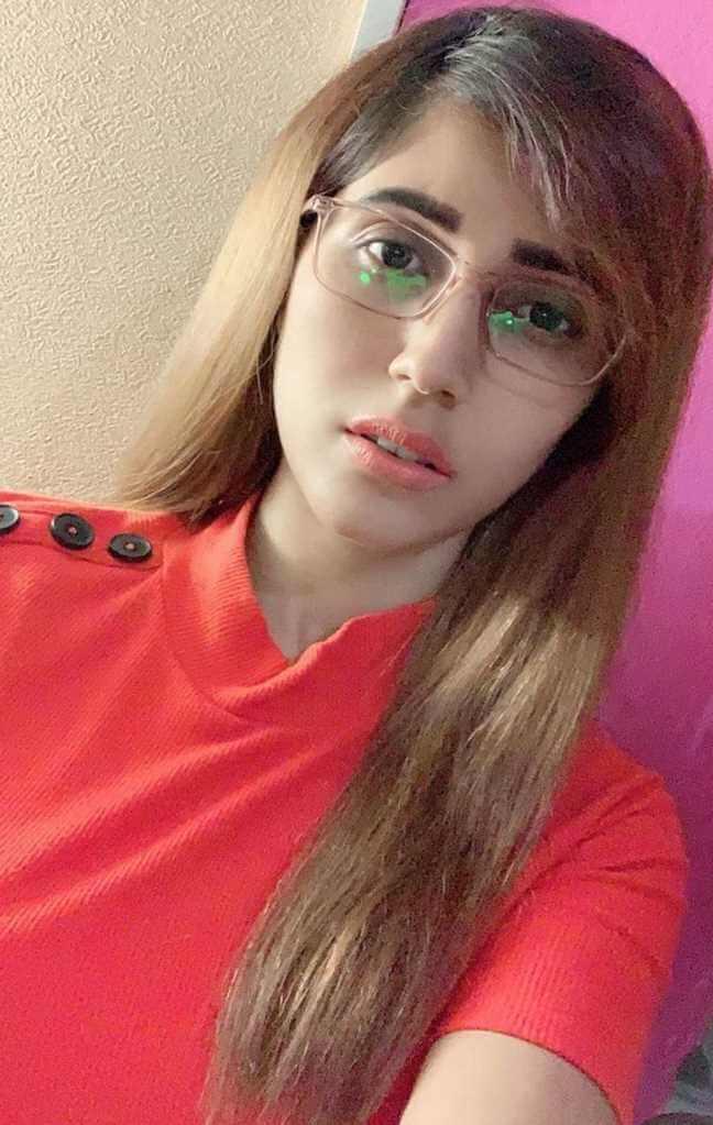 Naila Nayem Red Dress Selfie