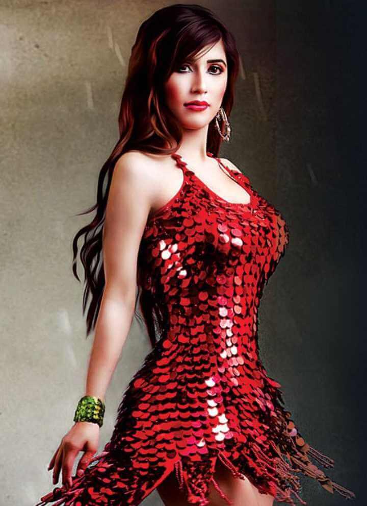 Naila Nayem Red Dress pic