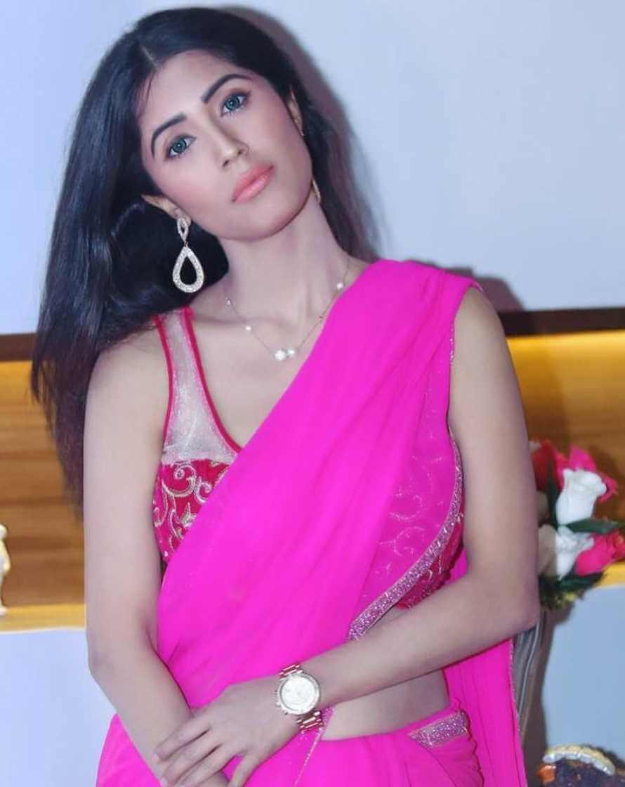 Naila Nayem Saree Pink color Photo