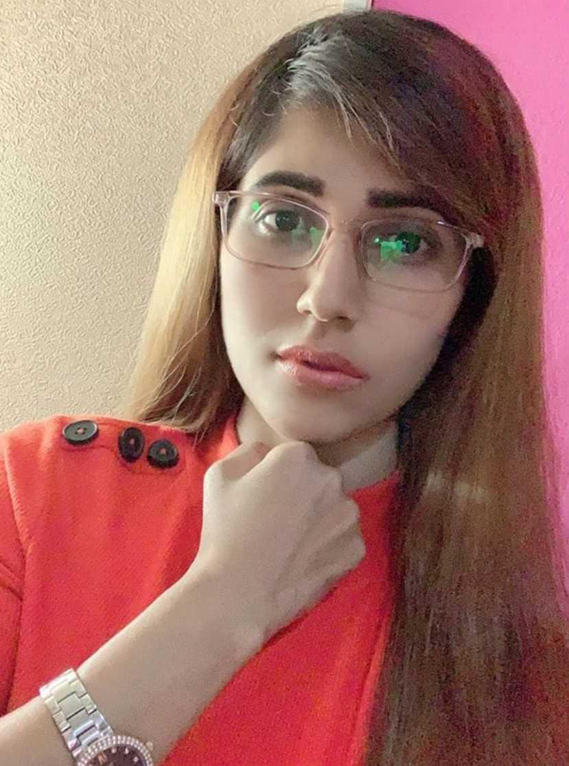 Naila Nayem Selfie at Red Color Dress
