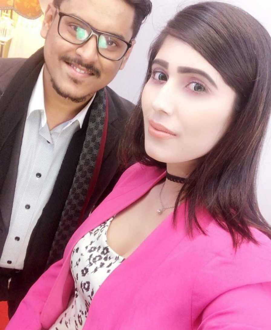 Naila Nayem With co-actor Selfie